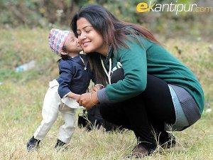 Rekha Thapa and Khagendra