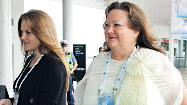 Fighter ... Gina Rinehart and daughter Ginia are on one side of a bitter family feud that the mining billionaire has repeatedly tried – and failed – to keep out of the media. Photo: Ron D'Raine