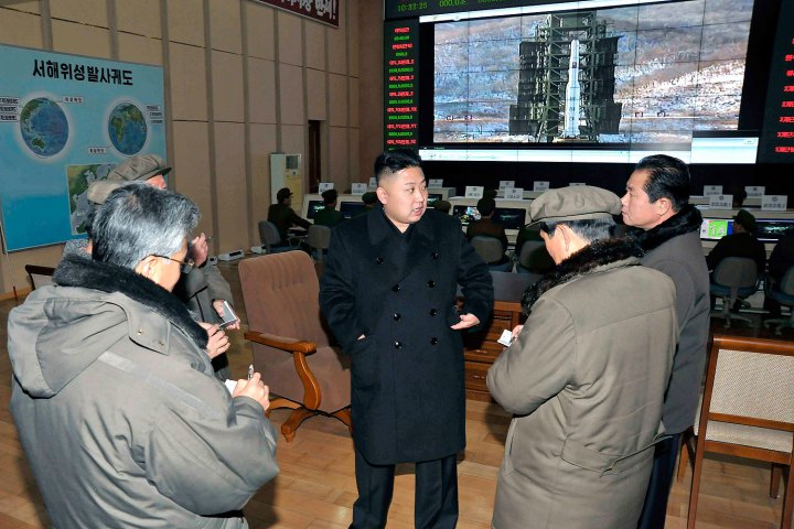 North Korean leader Kim Jong Un visits the West Sea Satellite Launch Site in Cholsan county, North Pyongan province, in this picture released by the KCNA news agency on Dec. 15, 2012