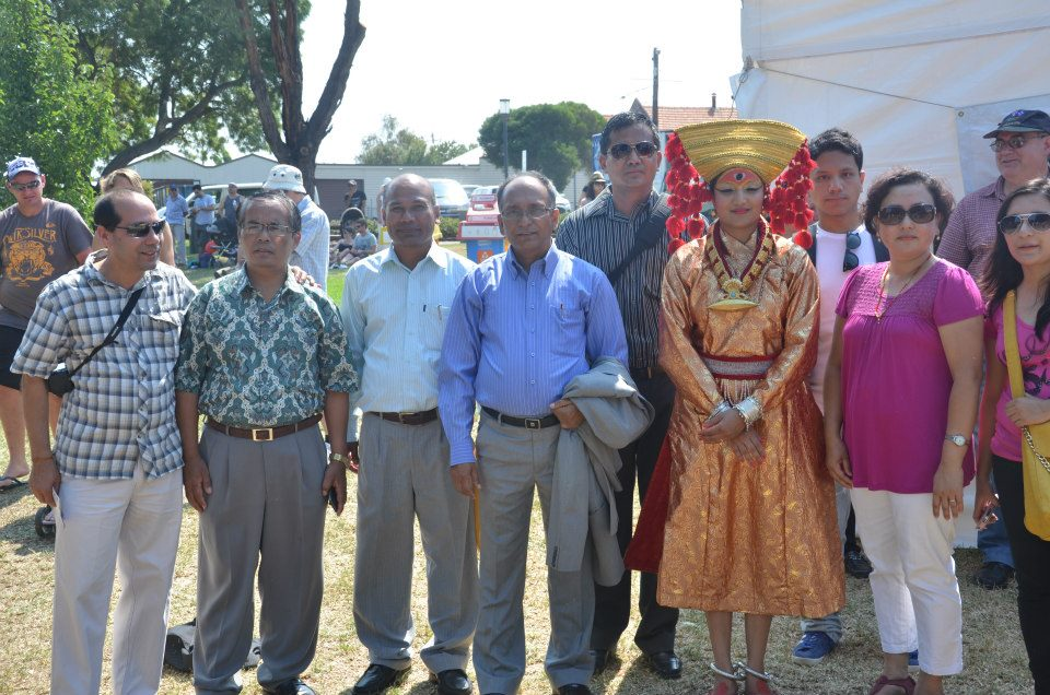 In the photo NTB Chairman and Secretary of the Ministry of Culture, Tourism and Civil Aviation Mr. Sushil Ghimire, Consul General of Victoria HE Chandra Yonjan and Consul General of South Australia HE Deepak Dhamala were also present in the festival. HE Deepak Dhamala