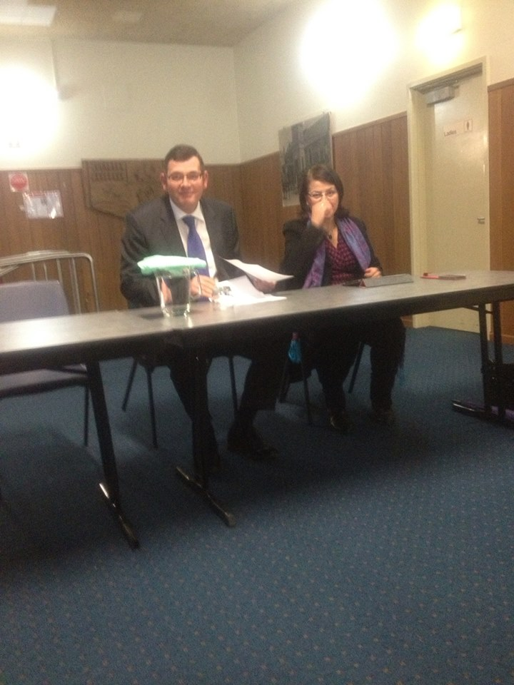 State leader of opposition Daniel Andrews, MP and Shadow Minister for Seniors and Ageing Jenny Mikakos