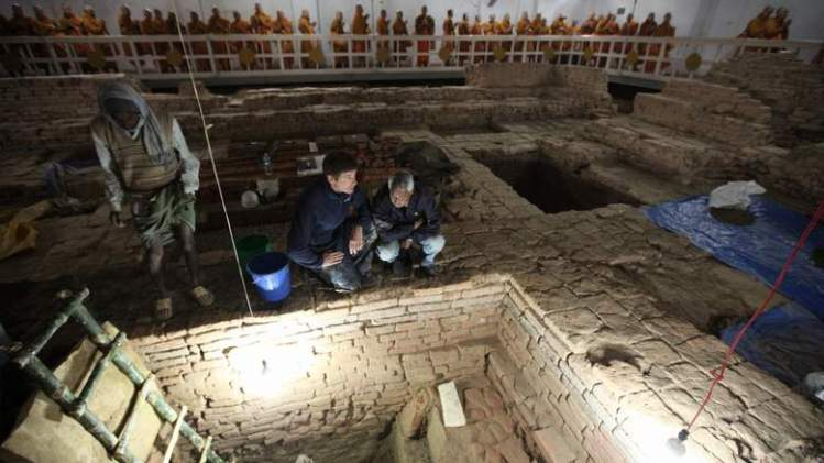 The dig in Lumbini, Nepal, has also uncovered fresh evidence about when the Buddha was born. Pic: Ira Block/National Geographic