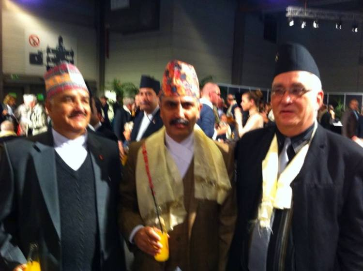 Frank with Amb Pokharel and F minister
