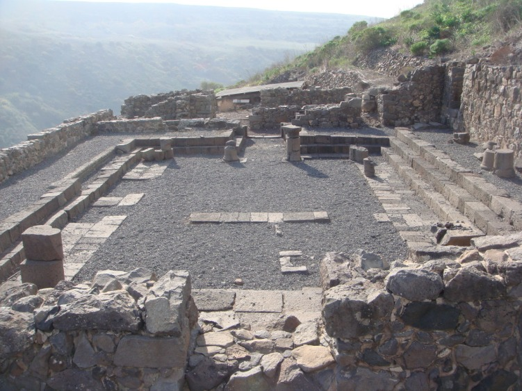 Synagogue excavated at Gamla.