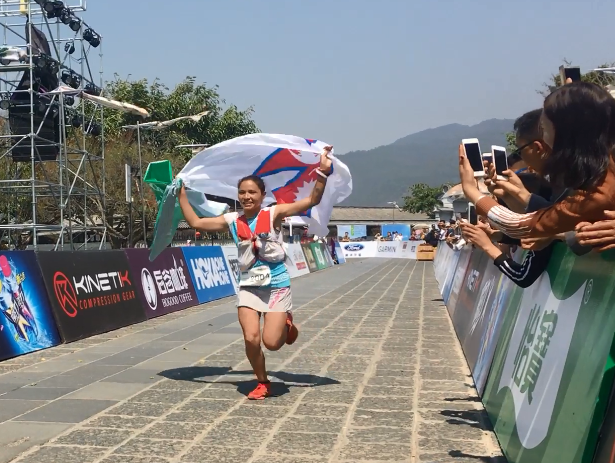 Sunmaya Budha from Nepal wins the title of Gaoligung Ultra THT race in China